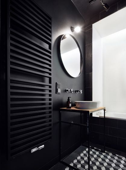 all black bathroom love