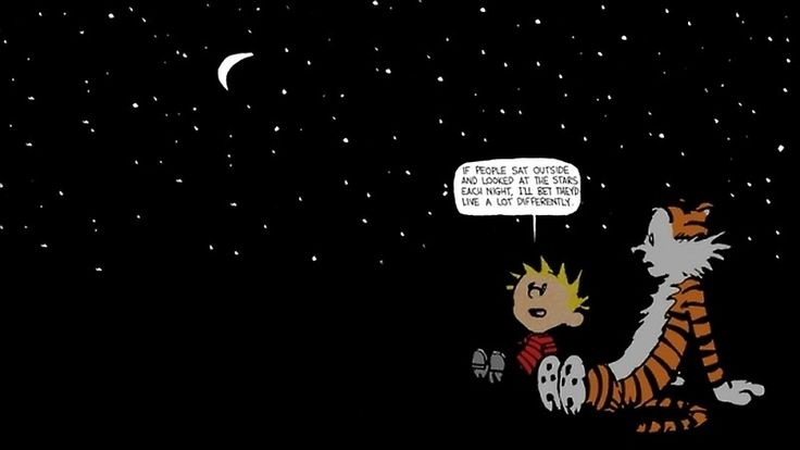 Calvin and Hobbes Night Sky by Bob Bob