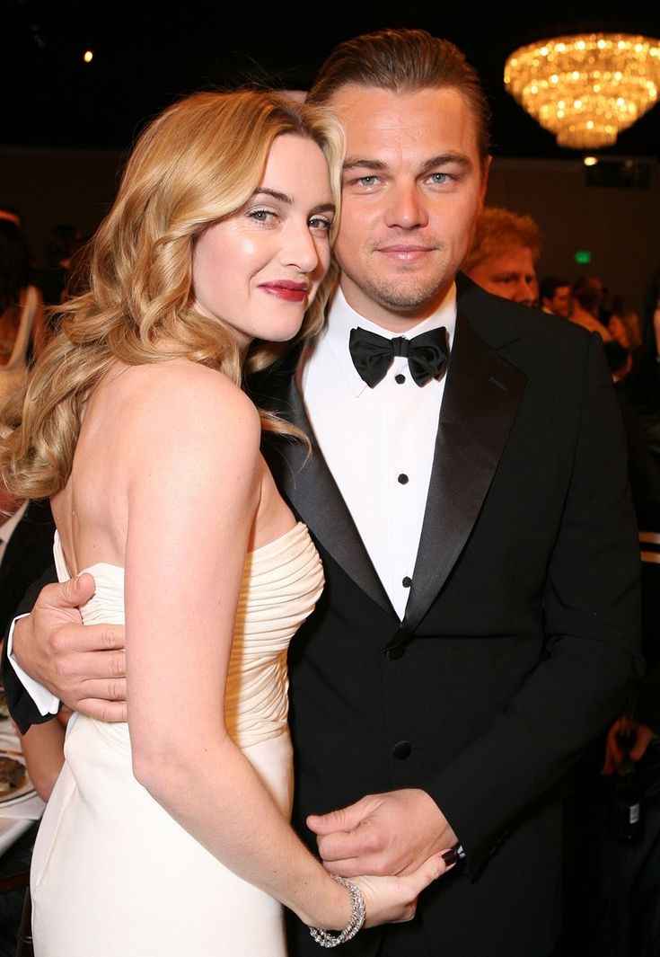 12 Photos That Prove Kate Winslet and Leonardo DiCaprio Are the Cutest BFFs in Hollywood - Kate and Leo at the 2007 Golden Globes  - from InStyle.com