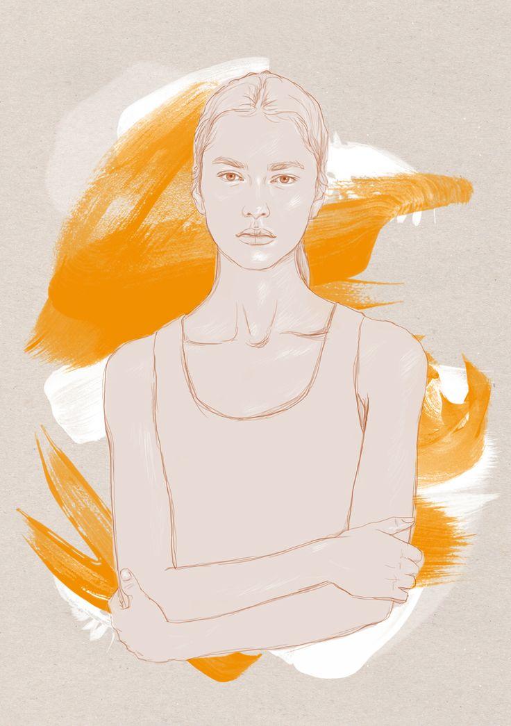 MARI  Digital artwork by Phaedra Seven.  #illustration #digital #art #drawing #sketch #custom portraits