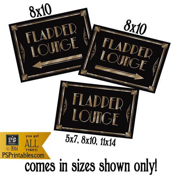 Flapper Lounge Bathroom Sign