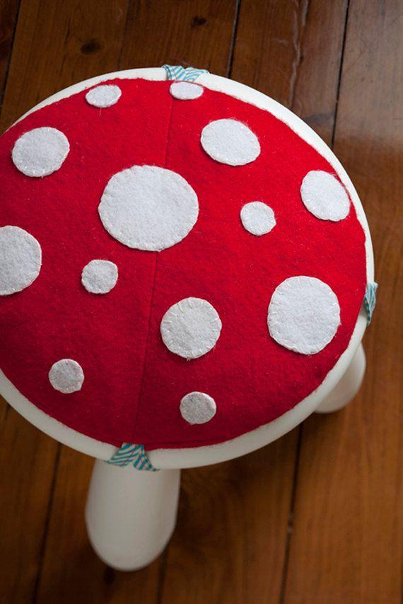 mushroom stool video game theme custom furniture. Fine Video Mushroom Stool Video Game Theme Custom Furniture Bespoke Hand Made Seat  Covers  Video Game For Mushroom Stool Theme Custom Furniture E