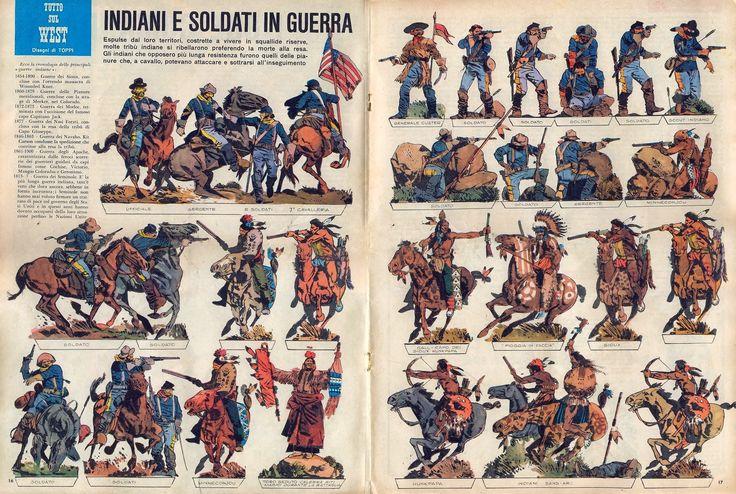 Corrierino e Giornalino: Indiani e soldati in guerra