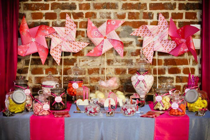 le candy bar sweet table etc candy bar mariage rose. Black Bedroom Furniture Sets. Home Design Ideas