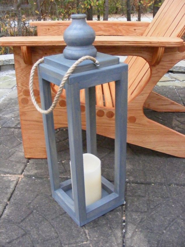 Wooden lantern diy outdoor living wood projects and for Wooden garden lanterns