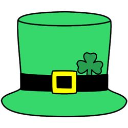 St. Patrick's Day craft for kids - Leprechaun hat. Color, cut out, and glue