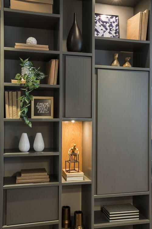Decoração prateleira - ideal para salas de televisão/escritório