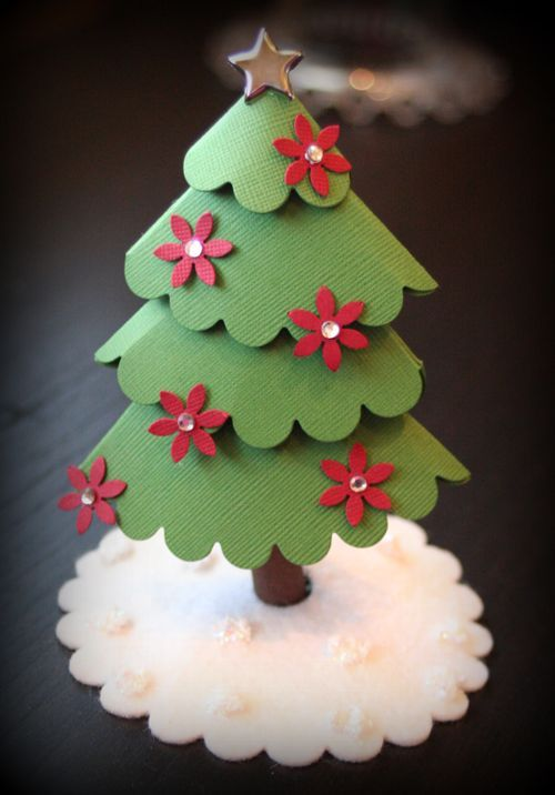 cute paper Christmas tree