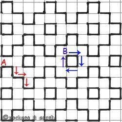 manieren om zelf patronen te tekenen op ruitjes papier