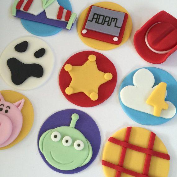 12 Toy Story Cupcake Toppers-Fondant by bakerslovebakery on Etsy