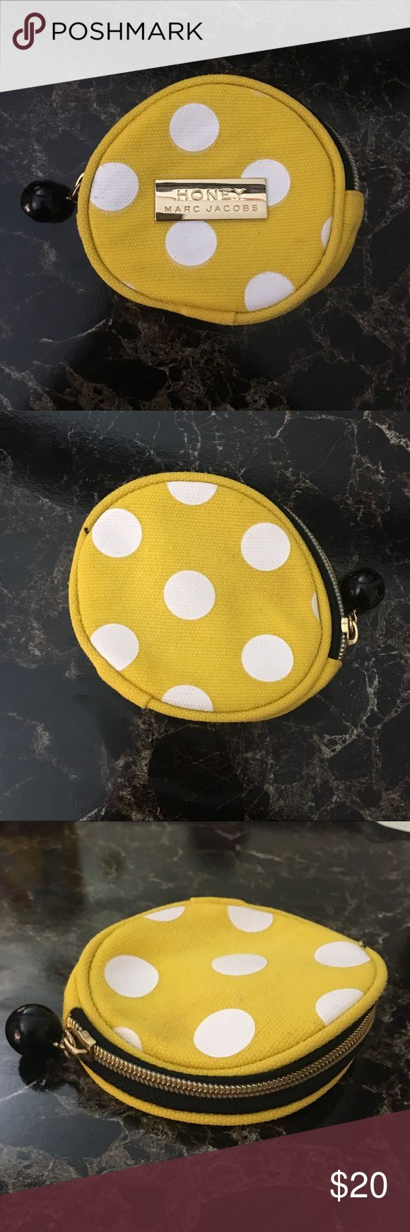 Marc Jacobs Yellow Honey coin purse Small yellow honey coin purse 100% cotton body 100% polyester lining Marc Jacobs Bags Mini Bags