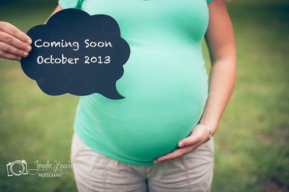 Chalkboard Speech Bubble  Maternity Pregnancy Photo by ChalkStyle, $9.50