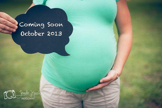 Chalkboard Speech Bubble  Maternity Pregnancy Photo by ChalkStyle, $9.50