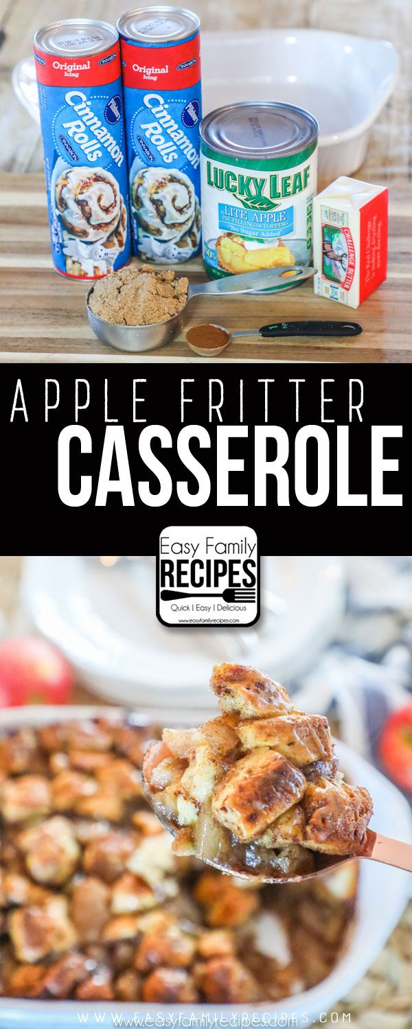 Apple Fritter Breakfast Casserole - Christmas Morning Breakfast