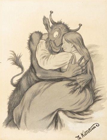 Omfavnelse by Theodor Kittelsen