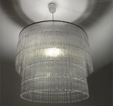 simple and elegant - and very eco! who would have thought this was made of plastic spoons?