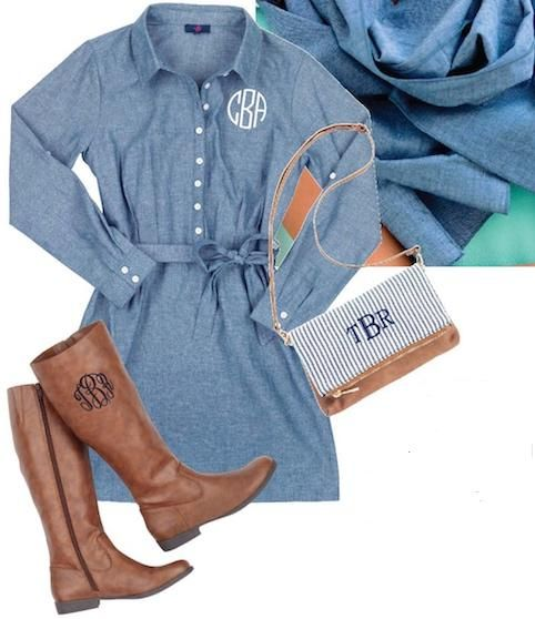 Pair with boots for a perfect tailgate outfit This comfortable Chambray Shirt…