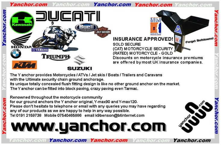Motorbike Security Security Ground Anchor Insurance Company