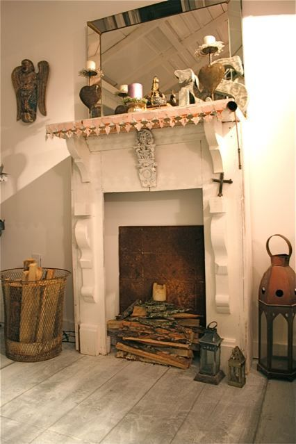 shabby chic fake fireplace | Faux Fireplace Living room ...