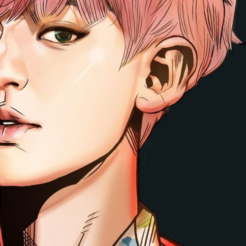 "Chanyeol - 170720 Illustrator Yim Sunggu's Instagram update: ""EXO 'KoKo Bop' [The War] Album Illustration Detail Cut CHAN YEOL by @_byfrank"" Credit: _byfrank."