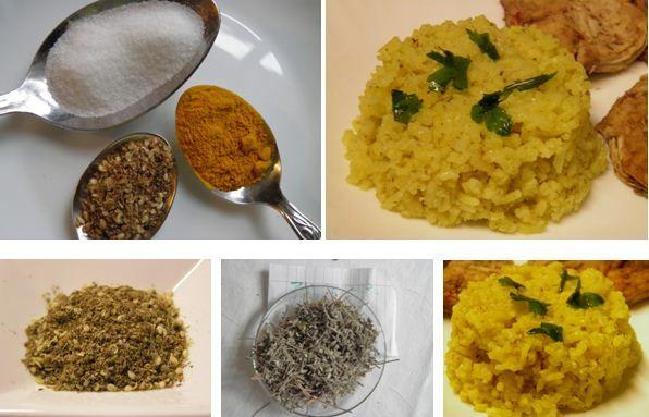 Kurkumás rizs zatar fűszerkeverékkel