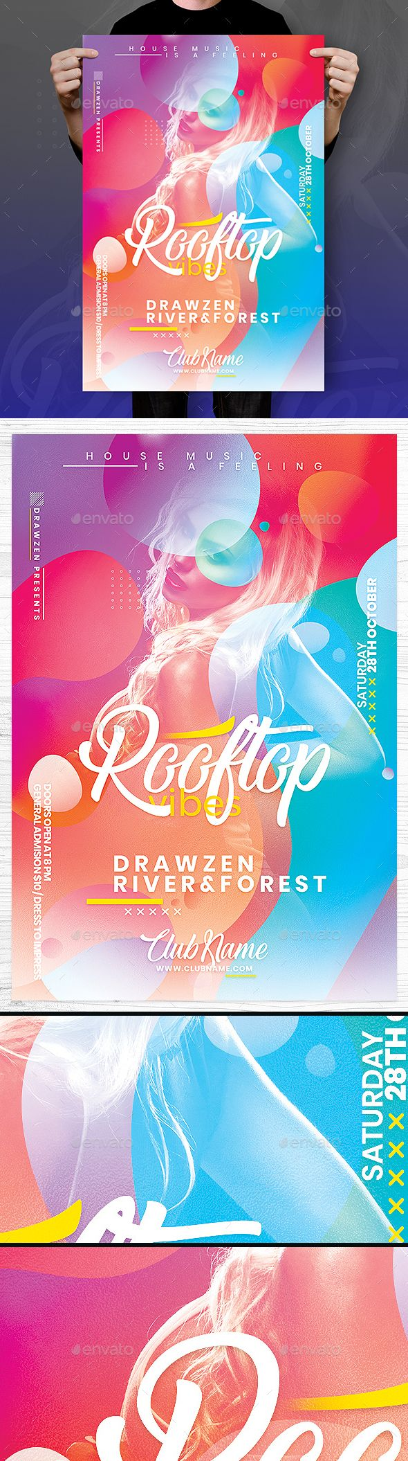 #Rooftop Vibes #Flyer - Events Flyers