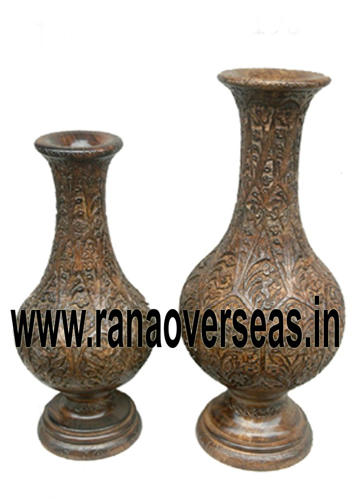 Wooden Flower vases are designed in styles ranging from exquisite to outrageous ones. These Flower vases chiseled out of variety of materials in varied shapes are extremely eye-catching with their compelling beauty. The Wooden flower pot base is made heavy to provide support to its body. Our flower pots have gained immense popularity worldwide. Wooden Flower pots are available in a variety of sizes, designs and styles. The Wooden flower pots are sure to look new for years to come.