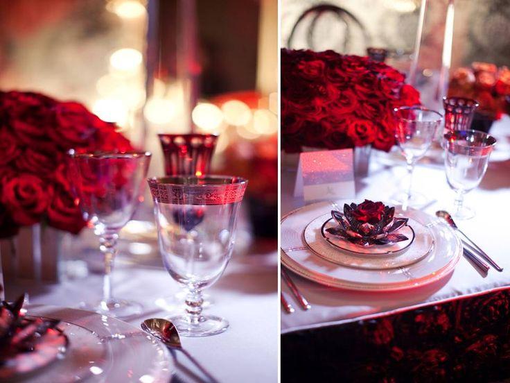 40th Wedding Anniversary Flower Arrangement Using Dark And Light Red Flowers