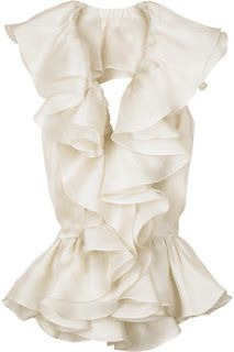 Ruffles! Yes! Would look awesome with black slacks or skirt