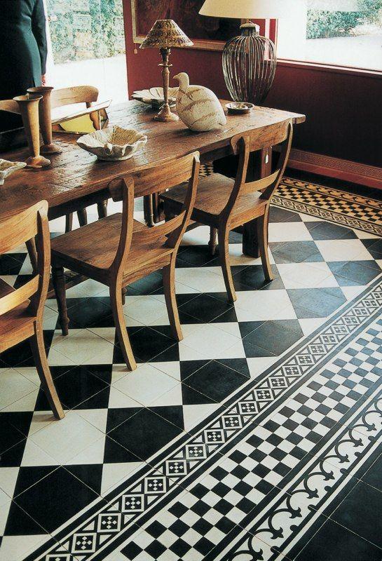Zwart-wit Castello decor tegel