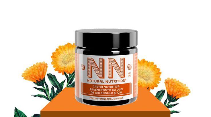 Crema nutritiva regeneranta cu ulei de calendula si Q10 (60 ml)
