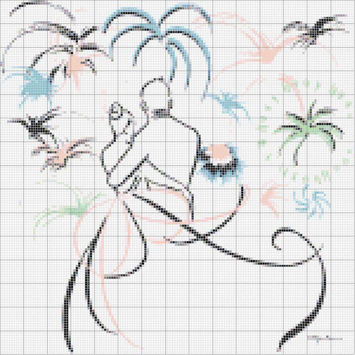 fireworks wedding cross stitch