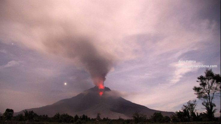 Indonesia is One of Pacific Ring of Fire,  Mount Sinabung Volcano is one of the Most super active volcano.  wake up after long sleep, this is continuesly eruptions with Pyroclastic Flows.