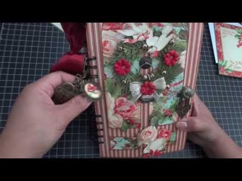 Graphic 45: 12 Days of Christmas Door Album - Walk through Video by Arlene #graphic45 #videos