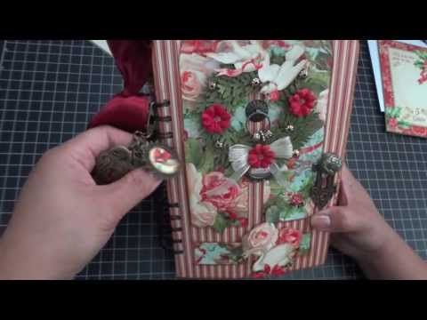 Graphic 45: 12 Days of Christmas Door Album - Walk through Video by Arlene #graphic45 #videos