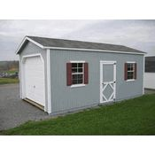 Classic 20' Wide Panelized One Car Wood Garage Kit - Little Cottage