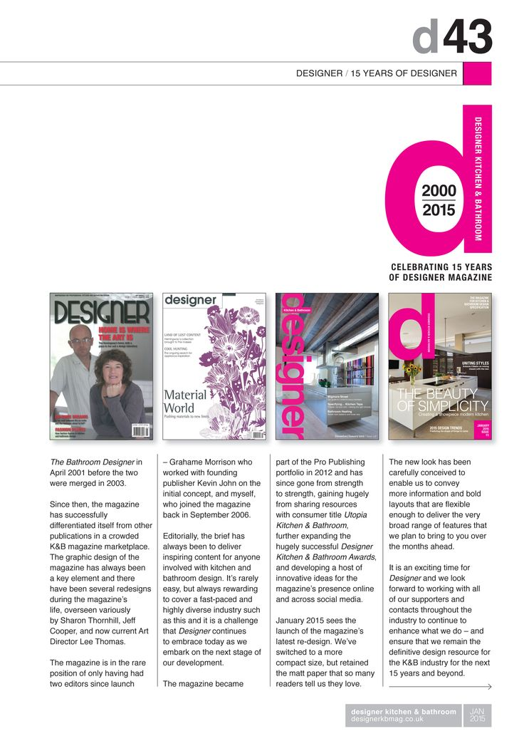 Designer At 15   Extract From Jan 2015 Designer Kitchen U0026 Bathroom Magazine.  Celebrating 15 Part 37