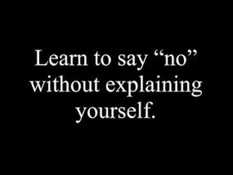 Learn to say NO! to your addictions!