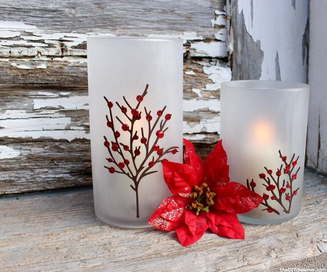 Etched Candle Holders - Christmas Decoration!