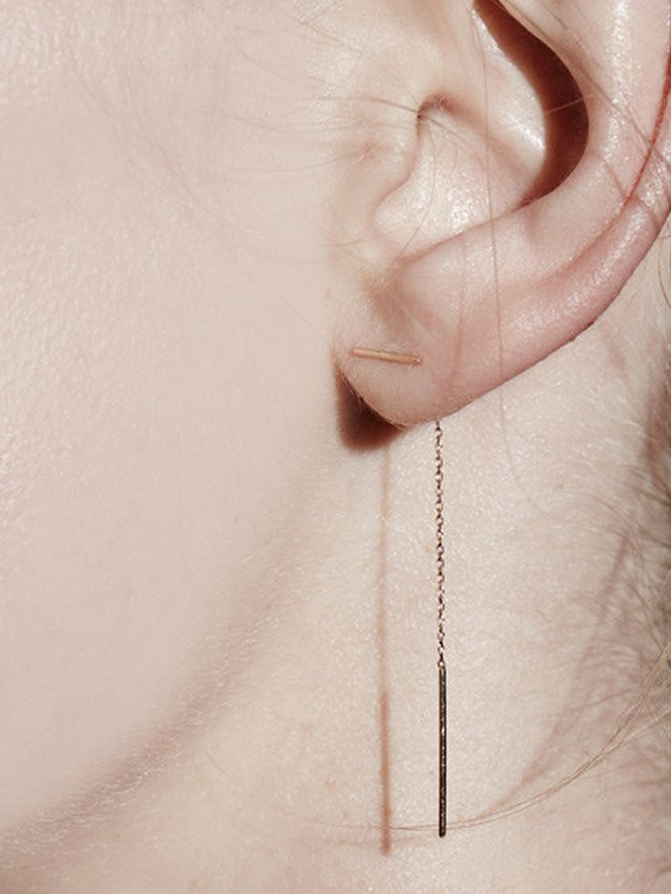 Line Chain Earring by Sarah & Sebastian