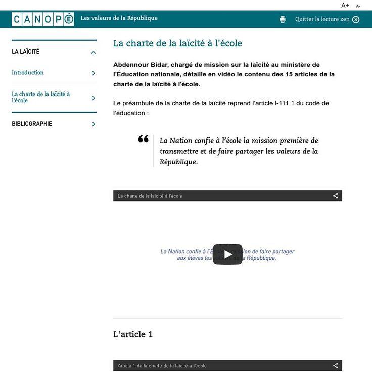 Charte de la laïcité à l'école - A. Bidar détaille en vidéo les 15 articles | Pearltrees