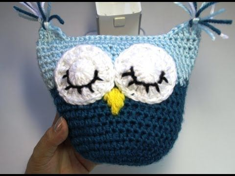 #Crochet owl pillow - subtitulos en Espanol - YouTube