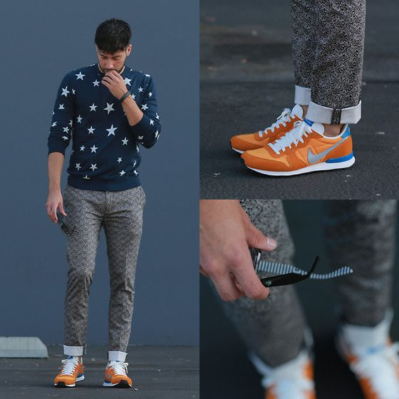 Forever 21 Sweater, Topman Trousers, Nike Sneakers, Lacoste Sunglasses