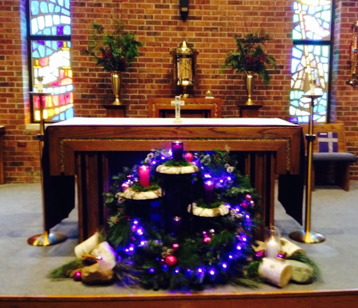 1000 images about church decorations on pinterest for Advent decoration ideas