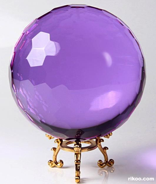 Purple ~ Glass Crystal Faceted Ball