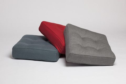 Bute fabric floor cushion made in the UK by Another Country Furniture