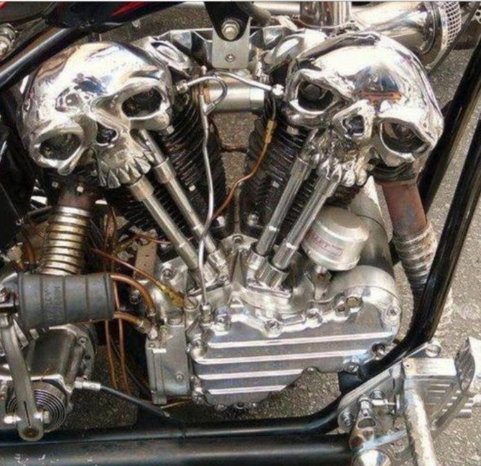 Skull Head Motor Art