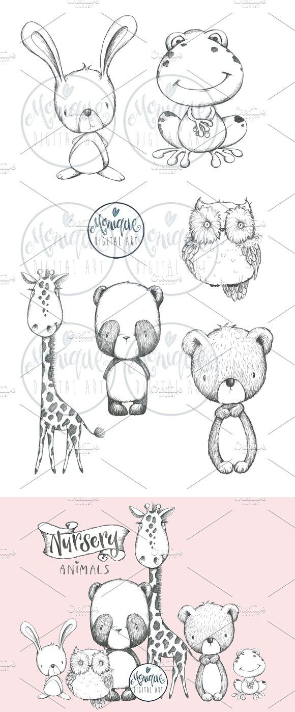 B W Animals Clipart Animal Clipart Animals Animals Black And White