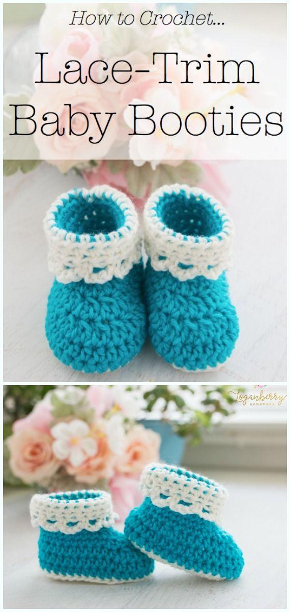 b171cad9a2ff3 Crochet Ankle High Baby Booties Free Patterns Tutorials | Crochet ...