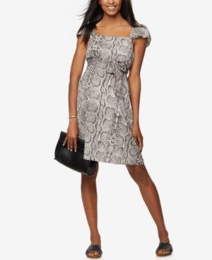 Rachel Zoe Maternity Animal-Print Dress - Snake Print L